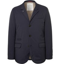 Brunello Cucinelli Slim Fit Quilted Shell Down Jacket Blue