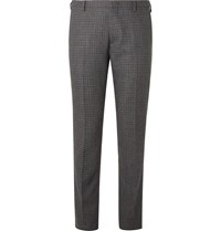 Paul Smith Charcoal Slim Fit Puppytooth Wool Suit Trousers Gray