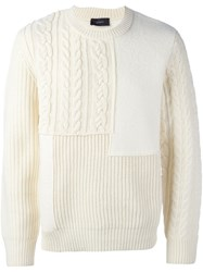 Joseph Cable Knit Asymmetric Jumper White
