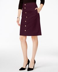 Charter Club Button Front Corduroy Skirt Only At Macy's Smokey Claret