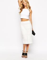 Mango Pencil Skirt White