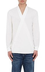 Balmain Men's Wrap Front Shirt White