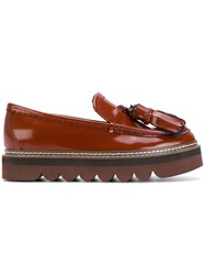 See By Chloe Tassel Detail Loafers Leather Patent Leather Rubber Brown