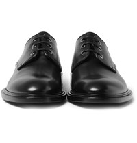 Givenchy Polished Leather Derby Shoes Black