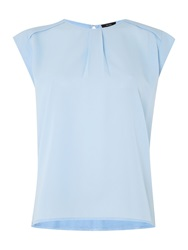 Therapy Woven Front Shell Top Blue