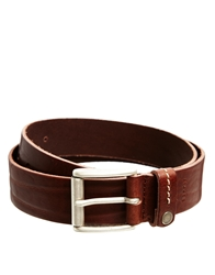 Esprit Loop Detail Leather Belt Brown