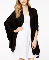 Inc International Concepts I.N.C. Solid Oversized Soft Wrap Created For Macy's Black