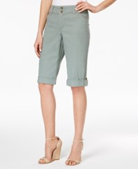Charter Club Cuffed Bermuda Shorts Only At Macy's Sage Green