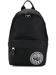 Mcq By Alexander Mcqueen Contrast Swallow Patch Backpack Black