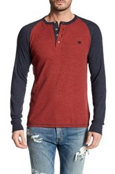 Timberland Long Sleeve Slim Fit River Henley Red