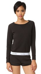 Calvin Klein Underwear Modern Cotton Long Sleeve Sweatshirt Black