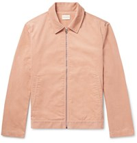 Simon Miller Cotton Corduroy Bomber Jacket Peach