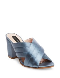 Steve Madden Zada Leather Dress Sandals Blue