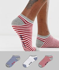 Pepe Jeans Shoe Liner Sock 3 Pack Multi