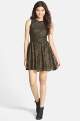Frenchi Lace Skater Dress Juniors Black
