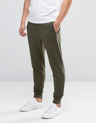 Emporio Armani Ea7 Jogger With Cuff And Logo In Khaki Khaki Green