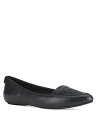 Elliott Lucca Bridget Leather Flats Black Exotic