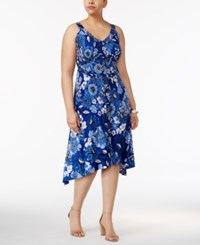 Inc International Concepts Plus Size Printed High Low Dress Only At Macy's Bed Of Marigold