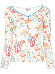 Hysteric Glamour Floral Print Top White