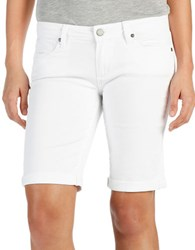 Paige Cotton Blend Solid Shorts Optic White