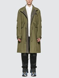 Sacai Cotton Mods Coat Green