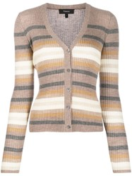 Theory Striped Knit Cardigan 60