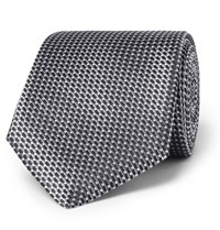 Hugo Boss 8Cm Silk Jacquard Tie Gray