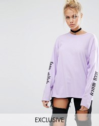 Adolescent Clothing Halloween Teen Witch Long Sleeve T Shirt Lilac Purple