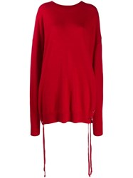 Faith Connexion Oversized Jumper Red