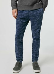 Topman Blue Acid Wash Jogger