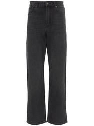 Y Project Double Layer Straight Leg Jeans Black