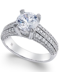 Macy's Certified Diamond Engagement Ring 2 1 5 Ct. T.W. In 18K White Gold