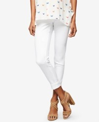 A Pea In The Pod Maternity White Wash Ankle Jeans