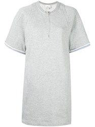 3.1 Phillip Lim Terry Tunic Dress Grey