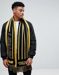 New Look Scarf With Legacy In Black And Yellow Black Pattern