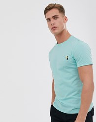 Threadbare Embroidered Toucan T Shirt In Green