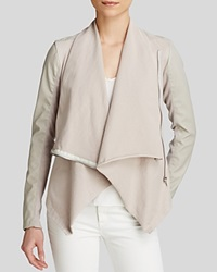 Blanknyc Jacket Faux Leather Asymmetric Zip Taupe