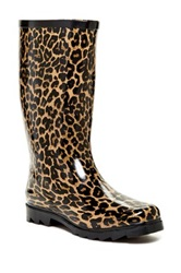 West Blvd Shoes Mid Calf Rain Boot Brown