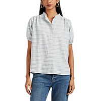 Ace And Jig Aidan Striped Cotton Button Front Top Multi