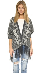 La Fee Verte Monarchy Fringe Cardigan