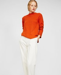 Aspesi Wool And Angora Sweater Lobster Orange