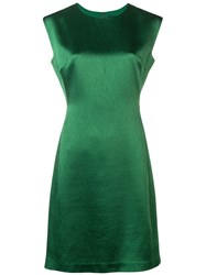 Theory Fitted Midi Dress Green