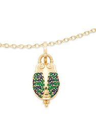 Temple St. Clair Crystal And 18K Yellow Gold Scarab Pendant