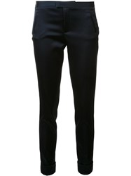 Atm Anthony Thomas Melillo Cropped Slim Fit Trousers Blue