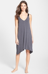 Dkny 'Urban Essentials' Jersey Chemise Charcoal Heather