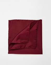 Noose And Monkey Italian Silk Pocket Square In Burgundy Red