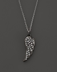 Kc Designs Diamond Wing Pendant In Black Rhodium Plated 14K White Gold .15 Ct. T.W. Black White