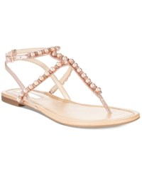 Inc International Concepts Madigane Embellished Flat Sandals Only At Macy's Women's Shoes Rose Pearl