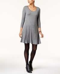 Style And Co Swing Dress Created For Macy's Mid Heather Grey