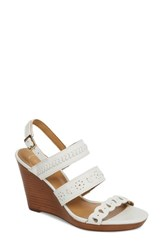 Jack Rogers Arden Wedge Sandal White Leather